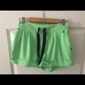 NEW Lululemon Neon Green Shorts
